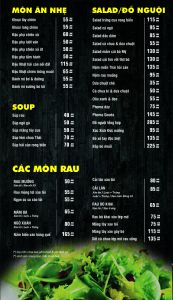 Menu do an TOPU