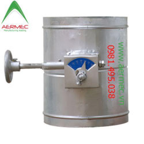 Van gió tròn tay trục vít - Round Volume Controll Damper (RVCD)