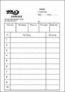 in order quán karaoke