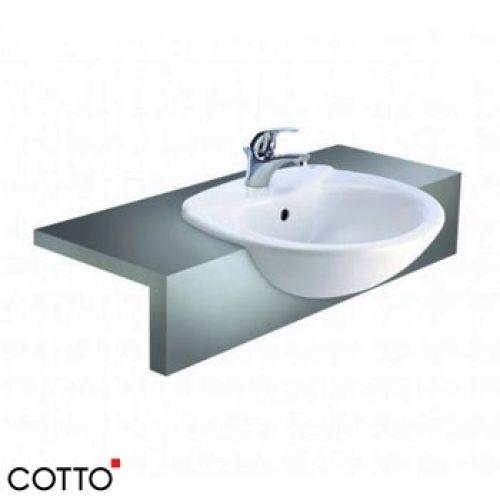 Chậu lavabo bán âm bàn COTTO C0240
