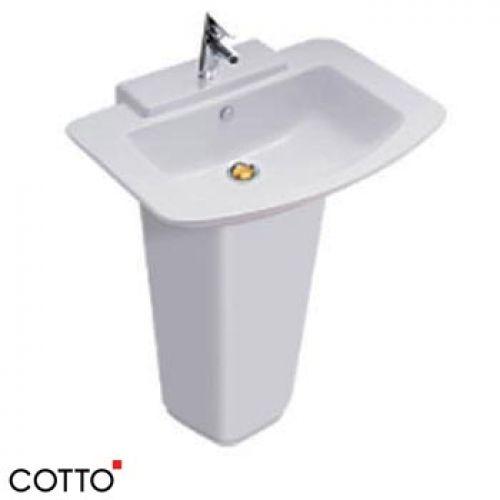 Chậu lavabo chân dài COTTO C01467/C4116