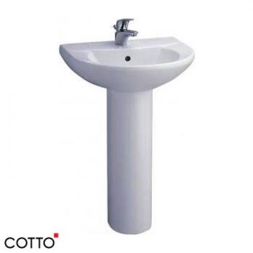Chậu lavabo chân dài COTTO C014/C411