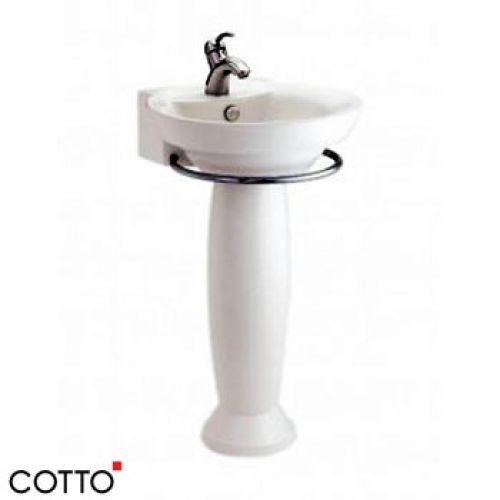 Chậu lavabo chân dài COTTO C0285/C4285