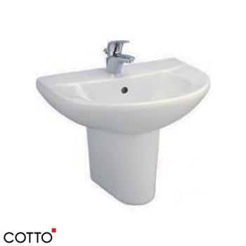 Chậu lavabo chân lửng COTTO C014/C4201