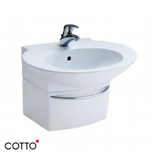 Chậu lavabo chân lửng COTTO SC01027