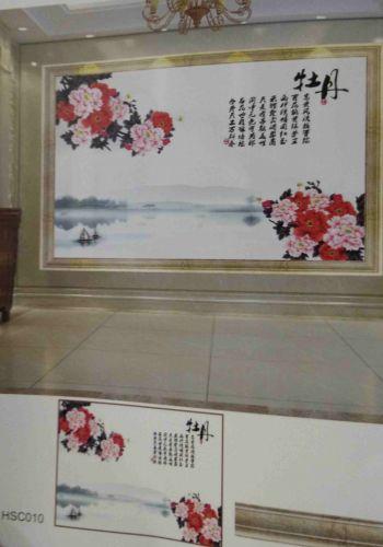 Gạch 3d trang trí phòng khách HSC010