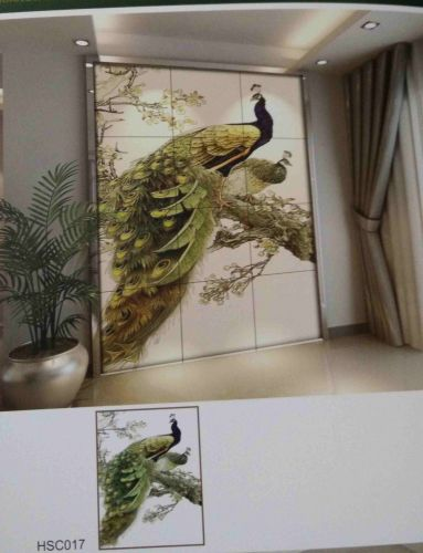 Gạch 3d trang trí phòng khách HSC017