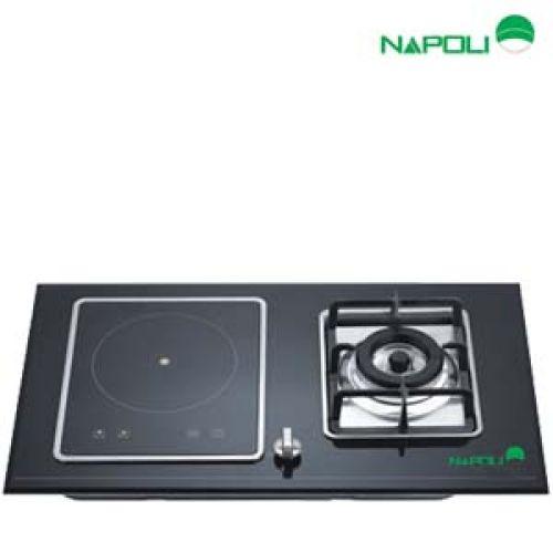 Bếp ga âm kết hợp điện từ Napoli CA-801GL